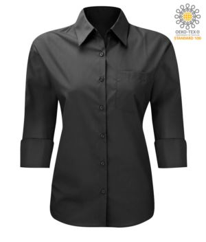 Black 3/4 Sleeves shirt for women