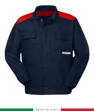 Multipro two-tone jacket navy blue /red