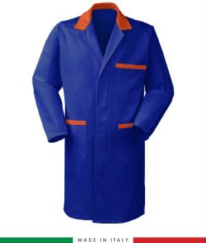Camici da lavoro modello da uomo colore azzurro/arancione