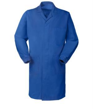 camice da uomo da uomo azzurro royal con bottoni coperti