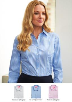Camicia in poliestere e cotone in tessuto easy iron. Ideale per receptionist, hostess, hotellerie. Vendita all'ingrosso. Ottieni un preventivo gratuito.