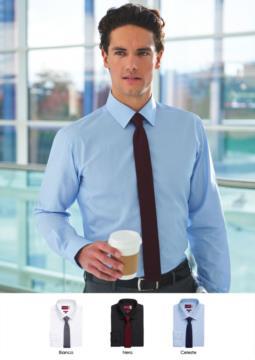 Camicia elegante per divisa da lavoro, cotone e poliestere. Tessuto con caratteristica easy iron.