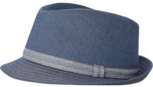 Cappello da cuoco, fascia contorno a contrasto, colore denim
