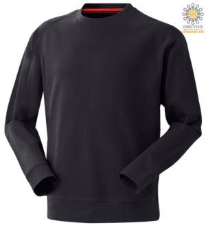 blue men round neck work sweatshirt