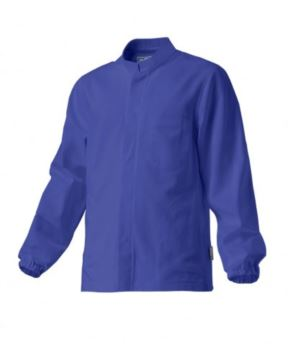 giacca da lavoro per uso alimentare a zip lunga colore azzurro 100% cotone massaua