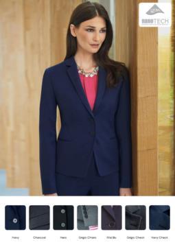 Giacca elegante da donna modello slim fit, tessuto con proprietà antimacchia.