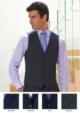 Gilet da divisa elegante in poliestere e lana disponibile nei colori Navy, Nero, Charcoal, Mid Greyo. Ideale per uniformi di portierato, hotel, receptionist.