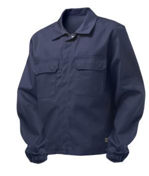 Giubbino trivalente multi pro, chiusura con cerniera coperta e bottoni, polsini con elastico, due tasche sul petto, certificata EN 11611, EN 1149-5, EN 13034, CEI EN 61482-1-2: 2008, EN 11612: 2009, colore blu navy