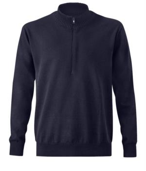 Heavy duty multi norm sweater, half zip, elasticated cuffs and hem, certified EN 1149-5, EN 11612:2009, EN ISO 340:2004