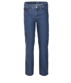 Work trousers in jeans 100% Cotton, blue denim colour