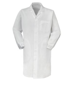 white food industry work coat UNI EN ISO 13688:13 certified