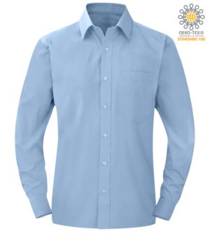 men long sleeved shirt Bright Sky color for professional use