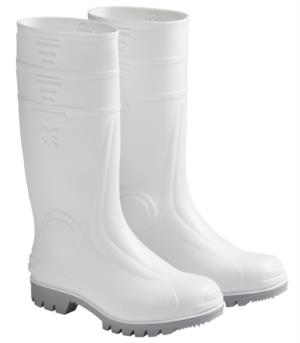 Food grade rubber boots, tank sole, non slip, anti phase, with excellent resistance to petrol and solvents, colour white