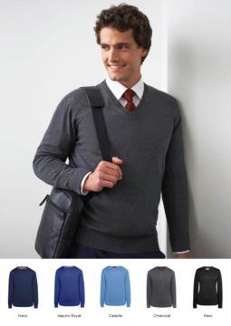 Maglione uomo scollo a V, maniche lunghe, costine sul collo e polsini, tessuto cotone e acrilico
