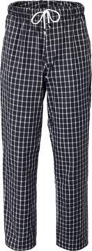 Pantaloni cuoco, elastico sulla vita con laccio, colore quadri bianchi