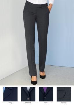 Pantalone elegante da donna in poliestere e lana, con tessuto antipiega. Ideale per  receptionist, hostess, hotellerie.