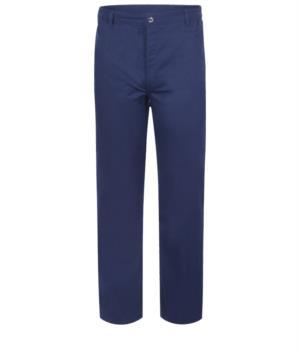 Pantaloni antiacido e antistatici, multitasche, colore blu, certificato EN 13034, EN 1149-5