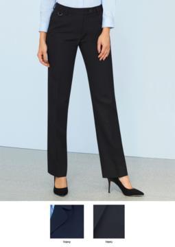 Pantalone elegante in tessuto 100% poliestere, colore blu navy e nero.  Ideali per receptionist, hostess, hotellerie.