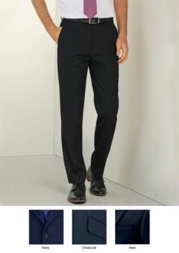 Pantalone elegante uomo in tessuto poliestere e viscosa, colore grigio charcoal. Ideali per uniformi di receptionist, hotel e portierato
