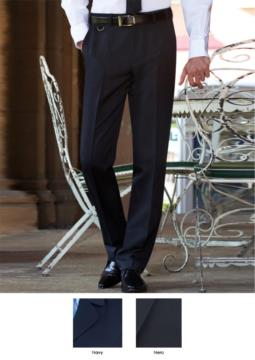 Pantalone elegante uomo modello tailored fit, due tasche a filetto, 100% poliestere. Ottieni un preventivo gratuito.