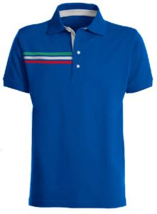 SHORT SLEEVE POLO WITH TRICOLOR