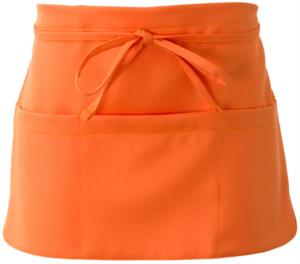 Apron with lace closure, colour orange