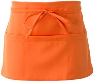 Apron with lace closure, colour orange