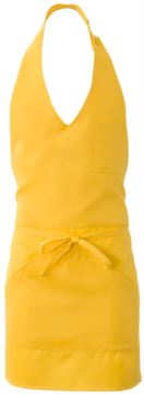 Apron with central single pocket, colour yellow