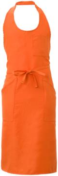 Apron with pockets and small pockets, in polyester, colour orange