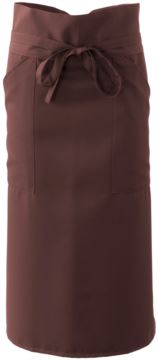 Cook apron with polyester, brown colour
