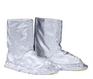 Stivali da prossimità, suola in para-aramide, resistente all'abrasione, colore argento, certificato EN 11612:2009