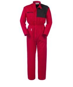 Tuta da lavoro intera rossa,tuta intera da meccanico,abiti professionali da lavoro