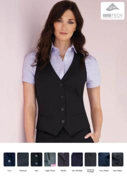 Woman vest in wool and polyester and stain-resistant fabric. Wholesale of elegant uniforms.