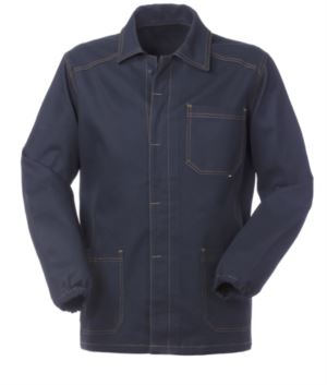 work jacket blue color 100% cotton non shrinkable