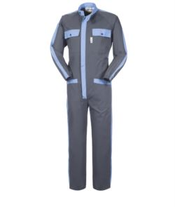 BICOLOURED COVERALL