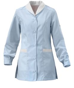 BICOLOURED WORK COAT WITH LONG SLEEVE WOMAN