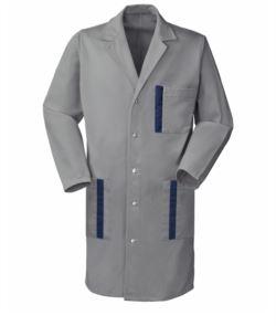 Bicolered work coat