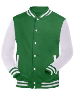white and green work sweatshirt