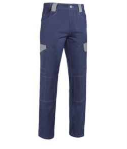 Bicolored multipocket pants