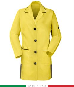 women long sleeved shirt 100% cotton yellow