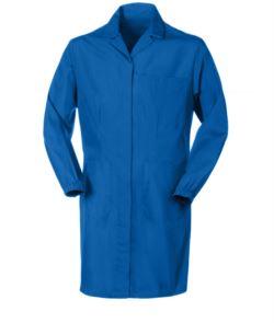camice da lavoro da donna con bottoni coperti