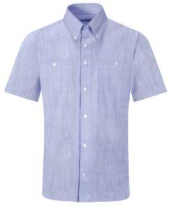 Camicia da uomo maniche corte colore celeste per divisa da lavoro