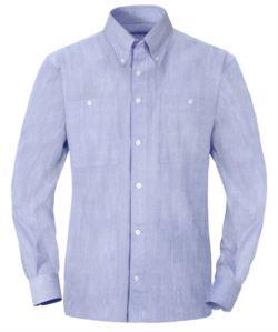 Camicia a maniche lunghe in cotone per uso lavorativo colore celeste