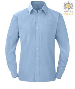 Camicia da divisa a manica lunga colore blu scuro