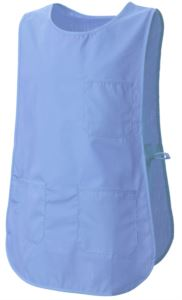 Cape with pockets, with the possibility of lateral adjustment with laces, color light blue