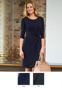 Elegant workwear for workwear. Dress with stain-resistant treatment in polyester and viscose.