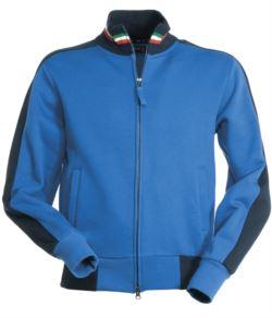abbigliamento per lavoro Roma,felpa da lavoro elettricista,Felpa da lavoro collo alto azzurra