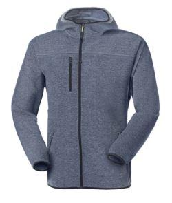 Giacca in maglia knitted fleece con cappuccio