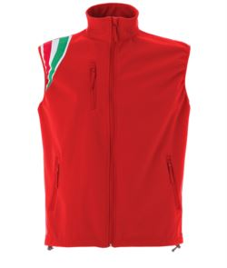 Gilet softshell impermeabile tricolore