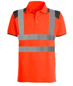 High visibility two tone polo